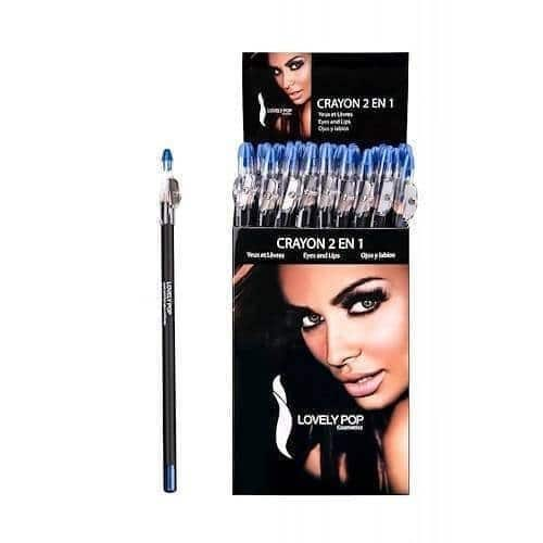 Oogpotlood Lippotlood 2IN1 Bleu Electrique
