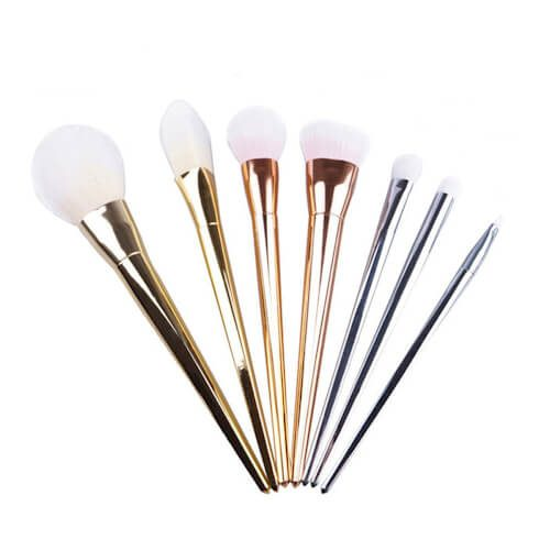 DRM 7-Delige Make-up Kwastenset Metal