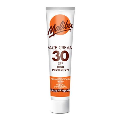 Malibu Sun Face Cream SPF 30.