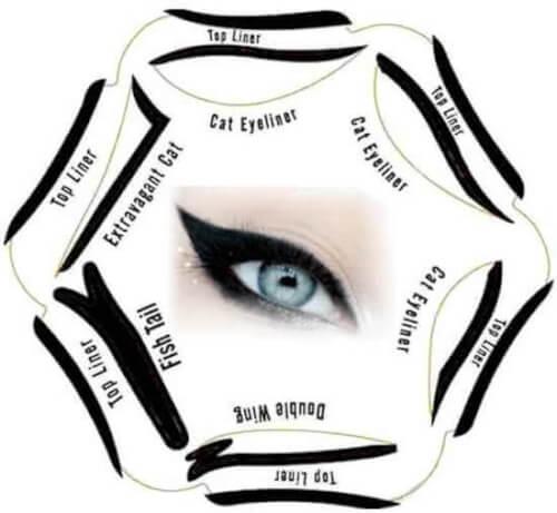 Afbeelding van 6 in 1 Eyeliner Stencil