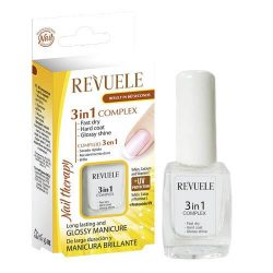 REVUELE® NAIL THERAPY 3 in 1 Complex - fast dry, hard coat & glossy shine 10ml