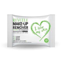 REVUELE® Wet wipes I LOVE MY SKIN MAKE-UP Remover voor de gevoelige huid 20st.