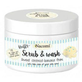 Nacomi Fluffy Scrub & Wash-Sweet Coconut-Banana 180g.
