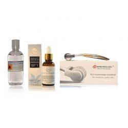 Titanium Dermaroller inclusief 30ml. 360Care® Hyaluronzuur serum + GRATIS desinfectie alcohol 80%