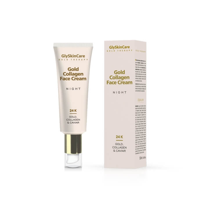 Glyskincare Gold Collagen Face Cream Night 50ml Online Kopen Dermarolling Nl