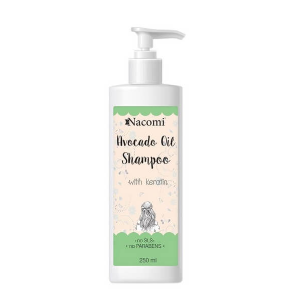 Afbeelding van Nacomi Avocado Oil Shampoo with keratin 250ml.