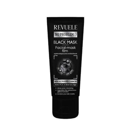 REVUELE® NO PROBLEM Black Mask Peel Off Met Actieve Koolstof 80 ml.