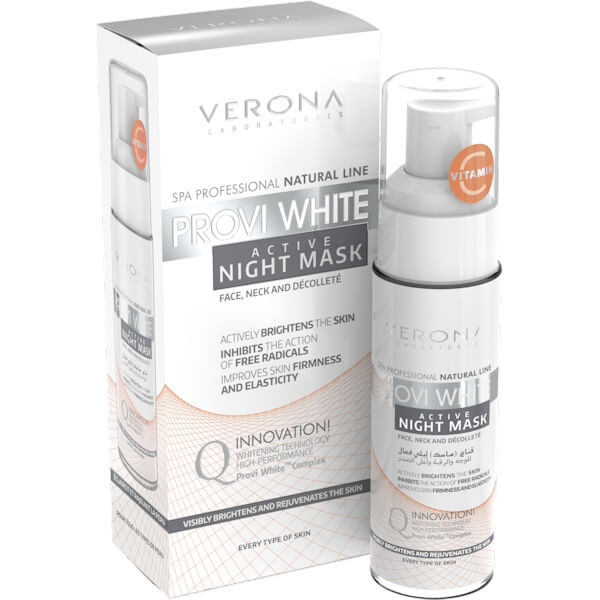 Afbeelding van Verona Professional Provi White Active Night Mask For Face, Neck And Decolleté 30ml.