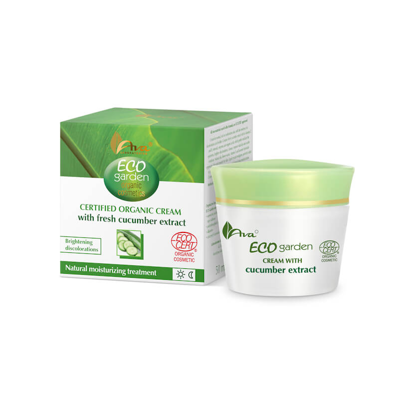 Afbeelding van AVA Cosmetics Eco Garden 20+Certified Organic Cream With Cucumber 50ml.