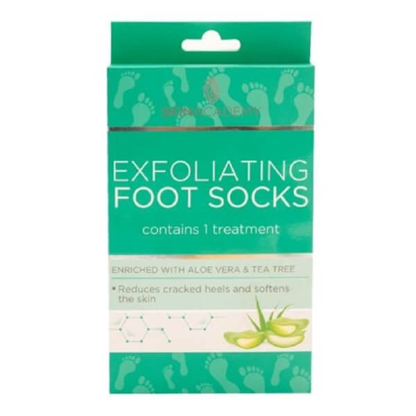 Afbeelding van Skin Academy Exfoliating Foot Socks Aloe Vera & Tea Tree