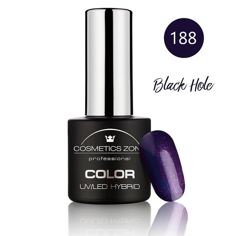 Afbeelding van Cosmetics Zone UV/LED Hybrid Gel Nagellak 7ml. Black Hole 188