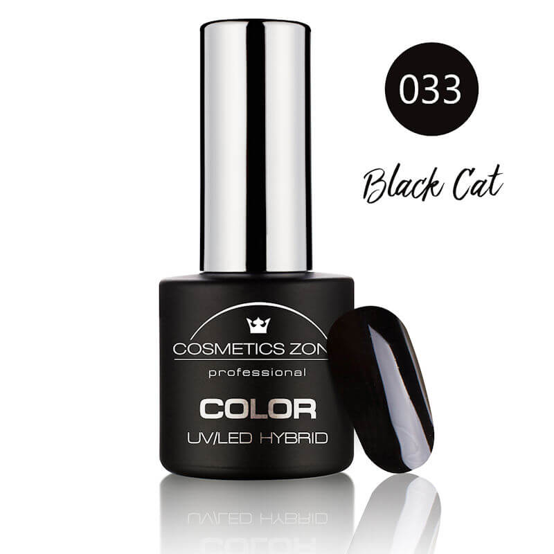 Afbeelding van Cosmetics Zone UV/LED Hybrid Gel Nagellak 7ml. Black Cat 033