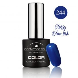 Cosmetics Zone UV/LED Hybrid Gel Nagellak 7ml. Glossy Blue Ink 244