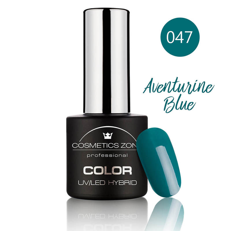 Afbeelding van Cosmetics Zone UV/LED Hybrid Gel Nagellak 7ml. Aventurine Blue 047