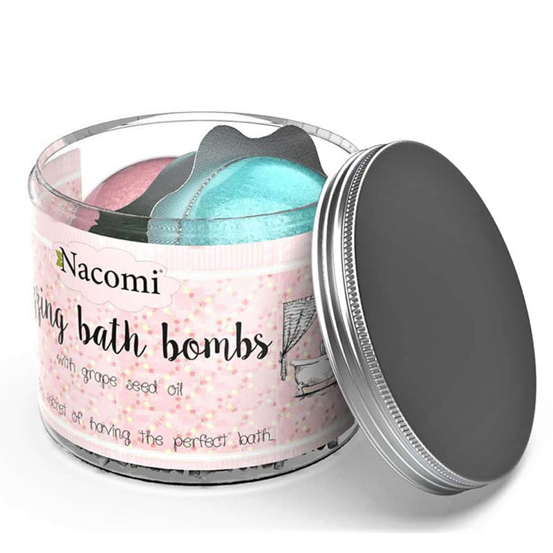nacomi fizzing bath bombs summer in greece sweet