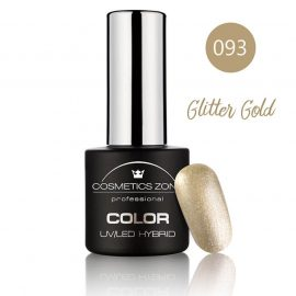 Cosmetics Zone UV/LED Hybrid Gel Nagellak 7ml. Glitter Gold 093