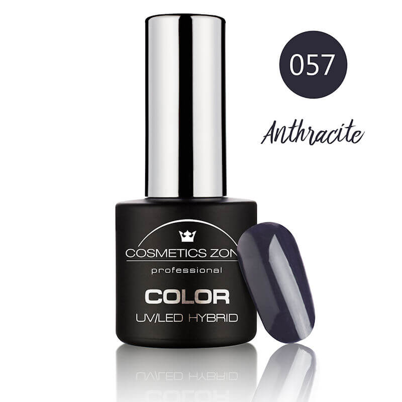 Afbeelding van Cosmetics Zone UV/LED Hybrid Gel Nagellak 7ml. Anthracite 057