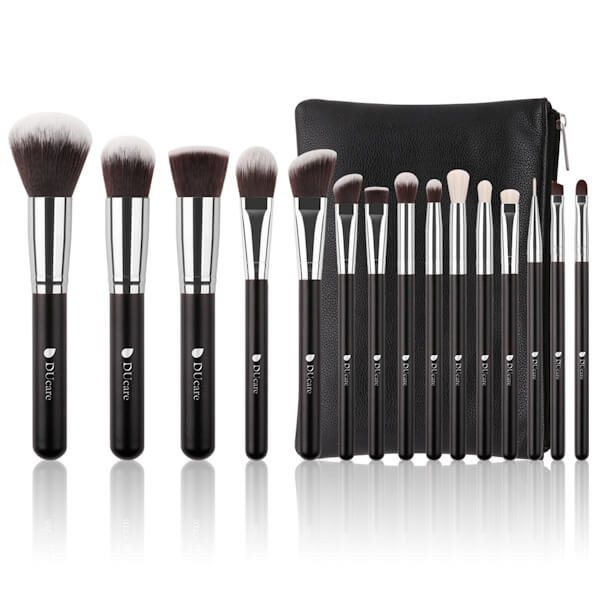 Afbeelding van Dermarolling 15-Delige Make Up Kwasten Set DF1503