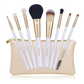 Dermarolling 9-Delige Make Up Kwasten Set Gold U802