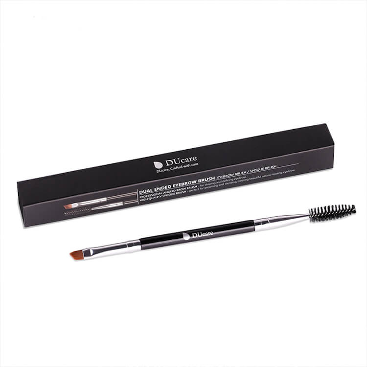 Afbeelding van Dermarolling Dual Ended Eyebrow Brush DF16