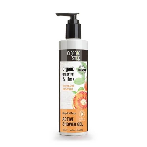 Afbeelding van Organic Shop Active Shower Gel Grapefruit Punch 280ml.