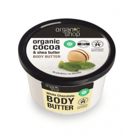 Organic Shop Body Butter White Chocolate 250ml.