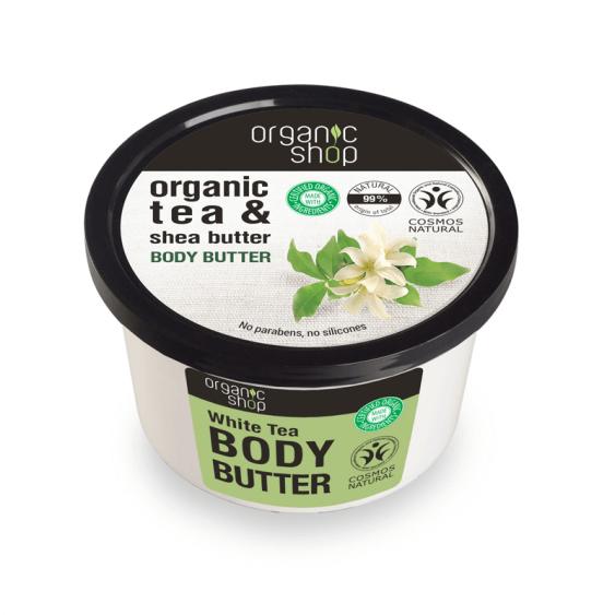 Afbeelding van Organic Shop Body Butter White Tea 250ml.