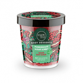 Organic Shop Body Desserts Pomegranate Sugar Sorbet Sugar Body Scrub 450ml.