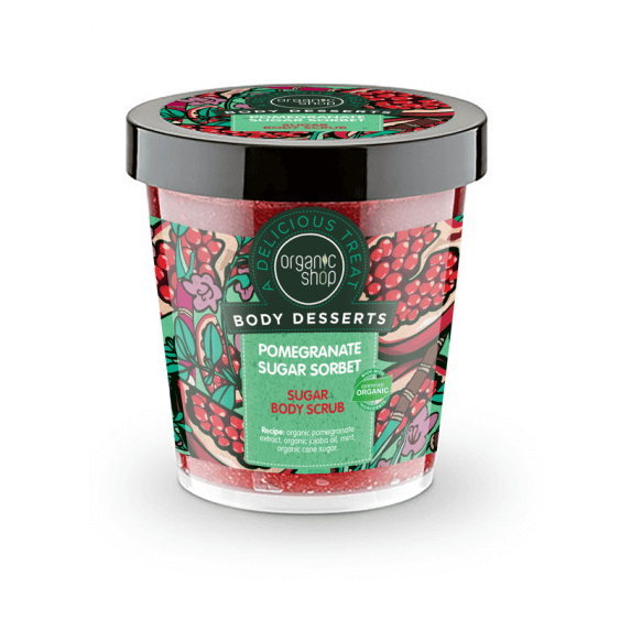 Afbeelding van Organic Shop Body Desserts Pomegranate Sugar Sorbet Sugar Body Scrub 450ml.