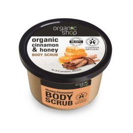 Organic Shop Body Scrub Honey Cinnamon 250ml.