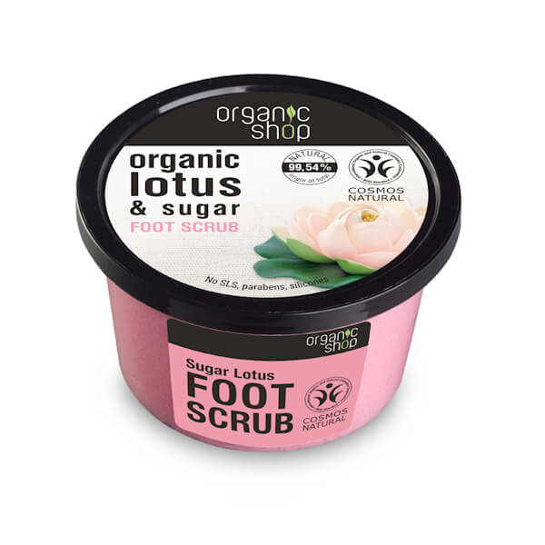Afbeelding van Organic Shop Foot scrub Sugar Lotus 250ml