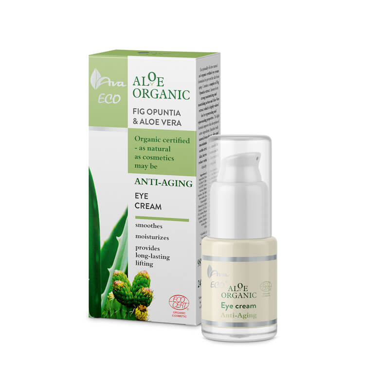 Afbeelding van AVA Cosmetics Aloe Organic Anti-Aging Eye Cream 15ml.