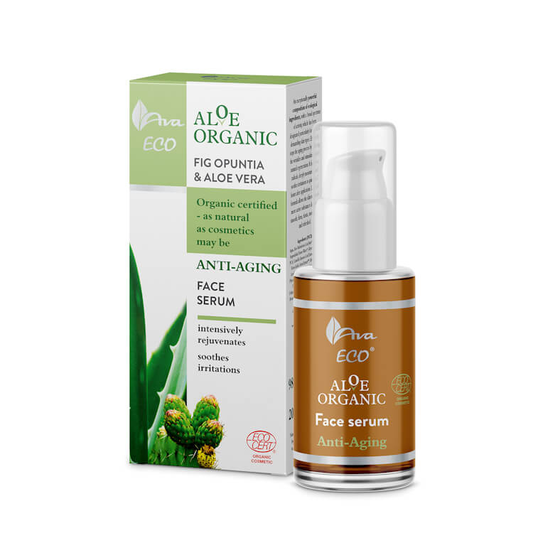 Afbeelding van AVA Cosmetics Aloe Organic Anti-Aging Face Serum 30ml.
