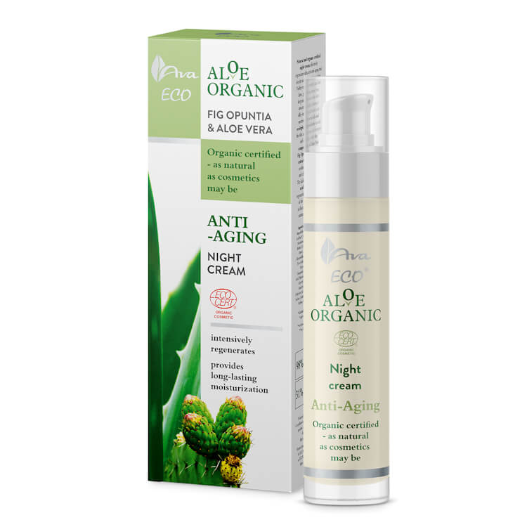 Afbeelding van AVA Cosmetics Aloe Organic Anti-Aging Night Cream 50ml.