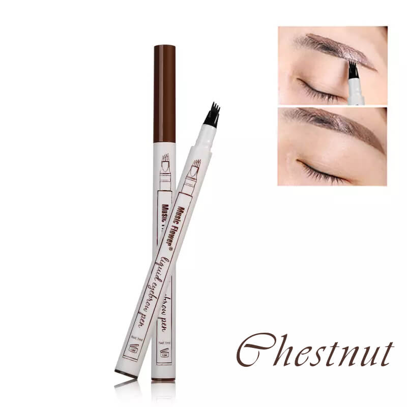 Afbeelding van Dermarolling Waterproof Liquid Eyebrow Pen 01 Chestnut