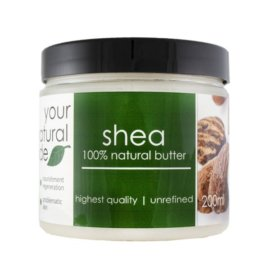 Your Natural Side Shea Organic (Butter, Unrefined) 200ml.