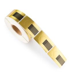 Cosmetics Zone Sjabloon voor Gel & Acrylnagels - 500 stuks - goud, Breed