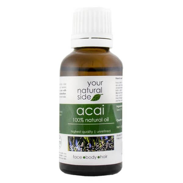 Afbeelding van Your Natural Side Acai Oil, Unrefined 30ml. Cap