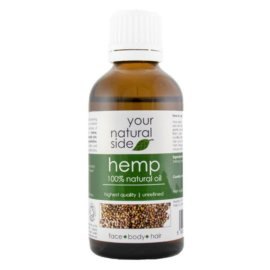 Your Natural Side Hemp Organic Oil, Unrefined 50ml. Cap