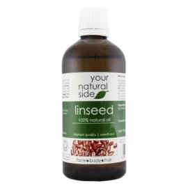Your Natural Side Lineseed Organic Oil, Unrefined 100ml. Cap