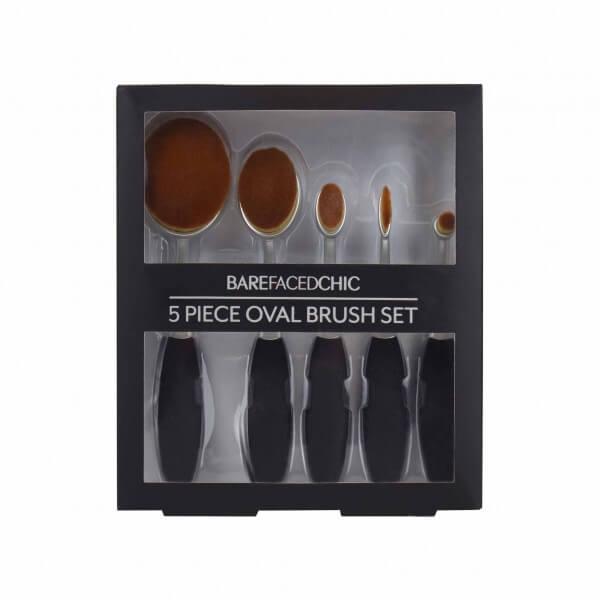 Afbeelding van BareFacedChic 5-delige Oval Brush Set