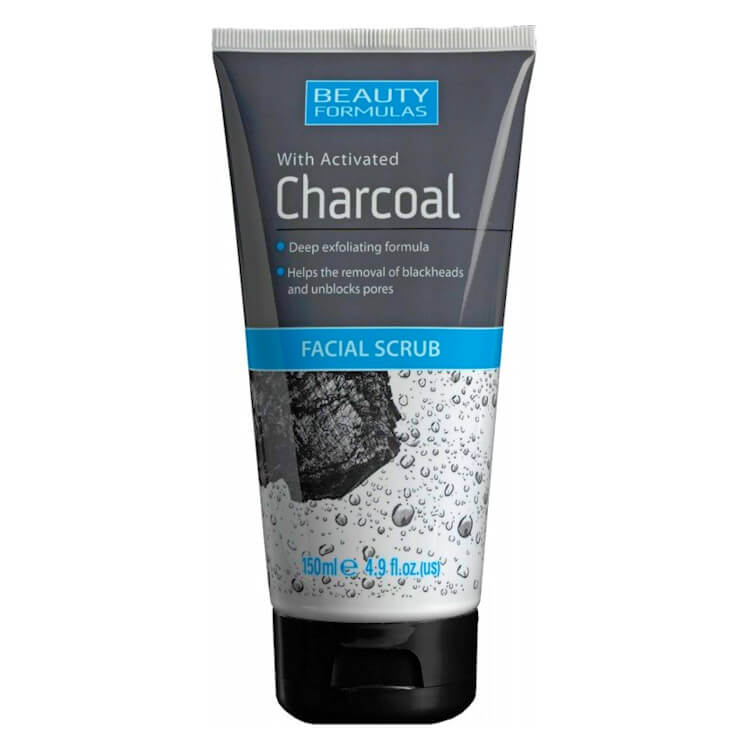 Afbeelding van Beauty Formulas Charcoal Facial Scrub 150ml.