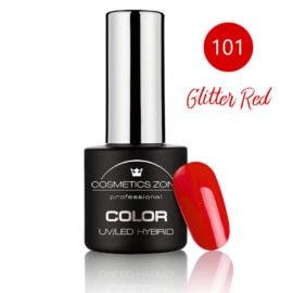 Cosmetics Zone UV/LED Hybrid Gel Nagellak 7ml. Glitter Red 101