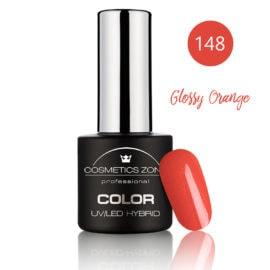 Cosmetics Zone UV/LED Hybrid Gel Nagellak 7ml. Glossy Orange 148