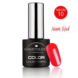 Cosmetics Zone UV/LED Hybrid Gel Nagellak 7ml. Neon Red N10