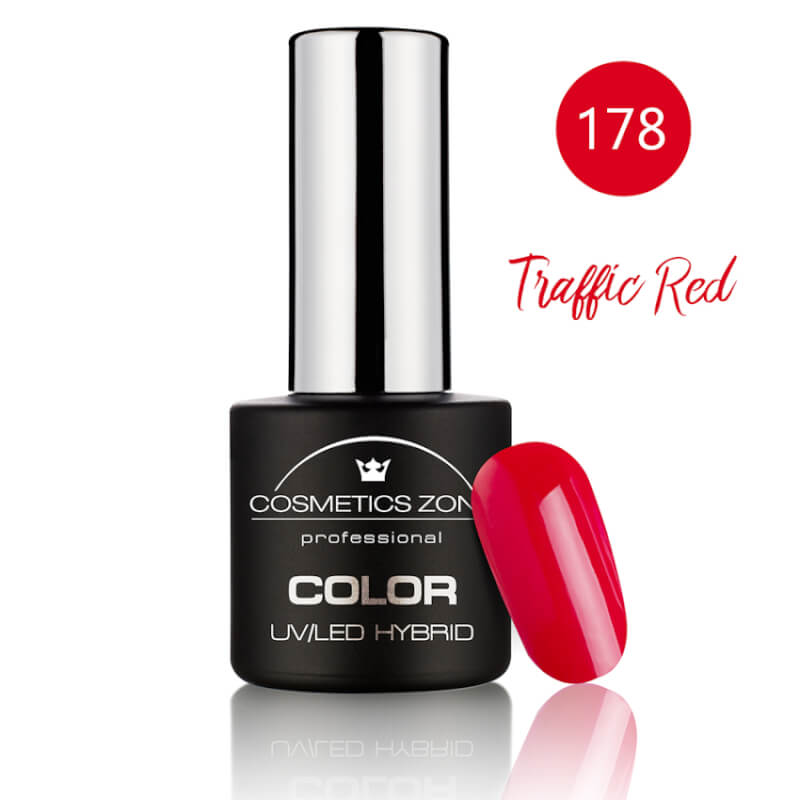 Afbeelding van Cosmetics Zone UV/LED Hybrid Gel Nagellak 7ml. Traffic Red 178