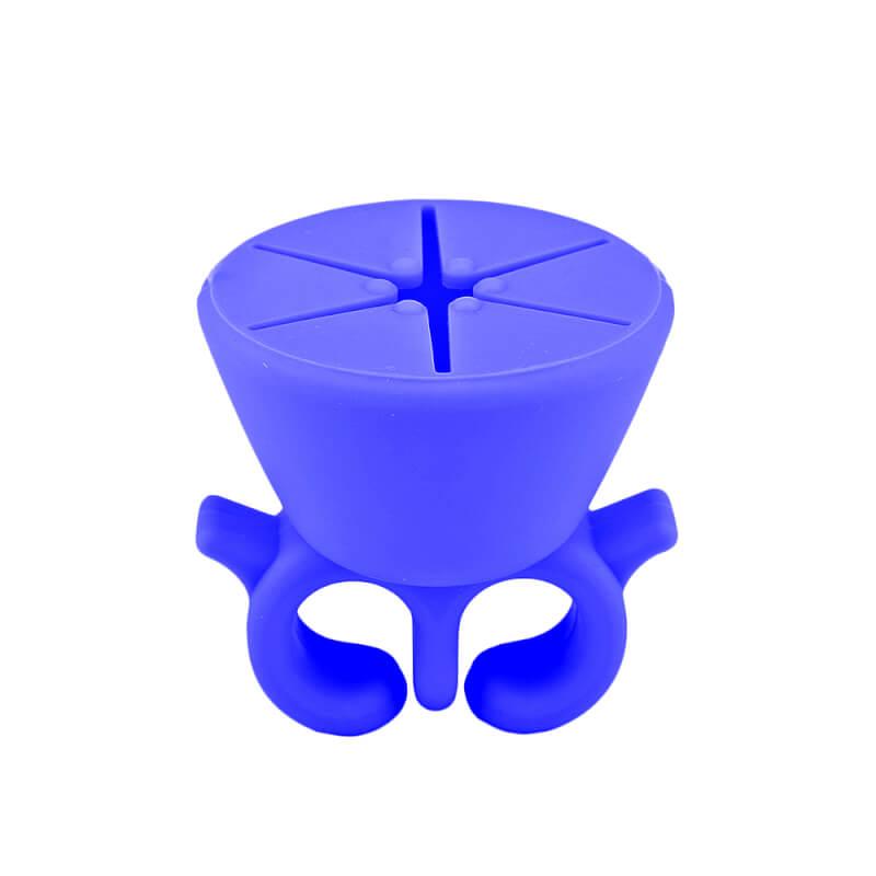 Afbeelding van Cosmetics Zone Draagbare Siliconen Nagellak Houder - Blauw
