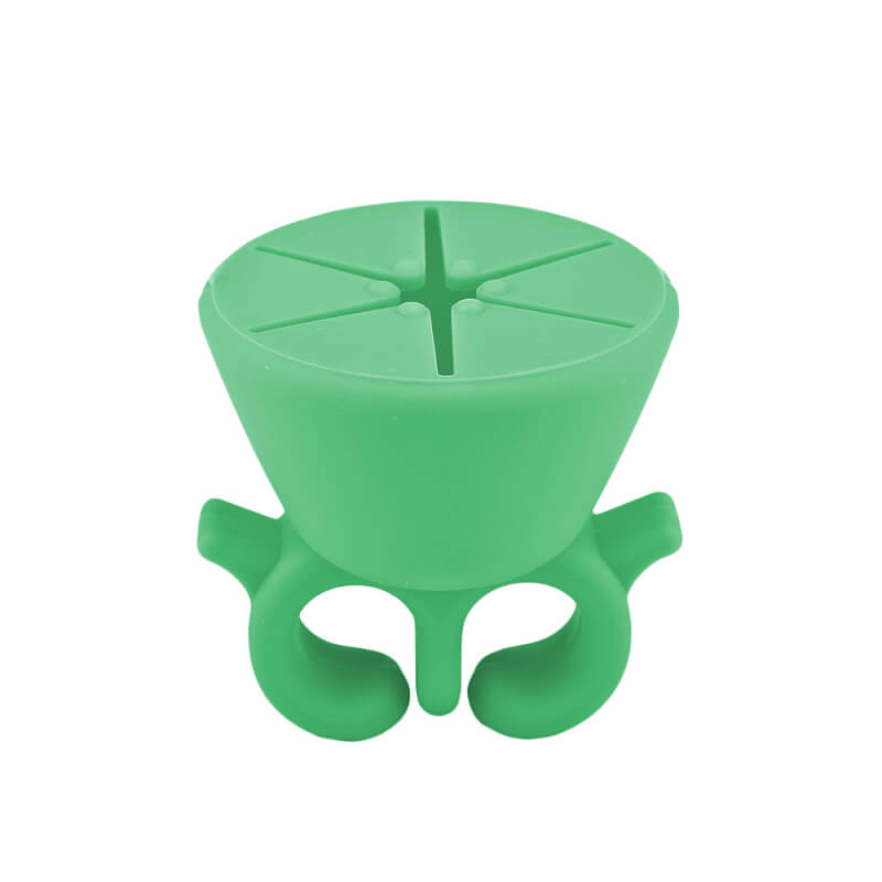 Afbeelding van Cosmetics Zone Draagbare Siliconen Nagellak Houder - Groen