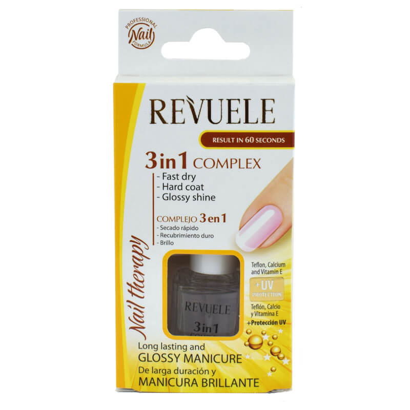 Afbeelding van Revuele Nail Therapy 3in1 Fast Dry, Hard Coat & Glossy Shine 10ml.