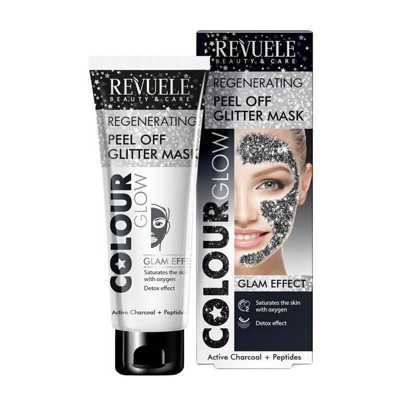 Afbeelding van Revuele Peel Off Glitter Mask - Black (Regenerating) 80ml.